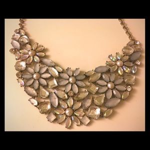 Bauble bejeweled collar, statement necklace